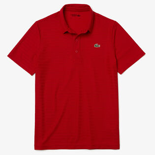 Men's Textured Breathable Golf Polo