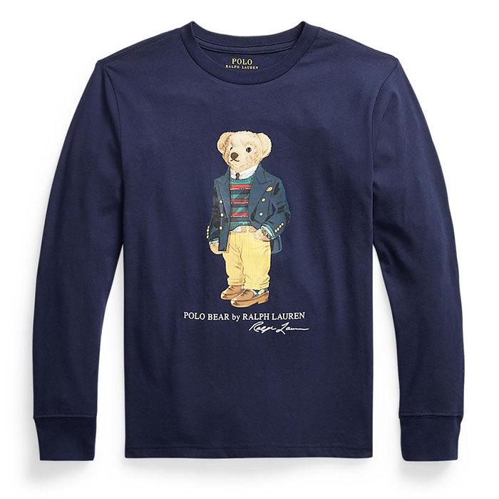 Chandail à manches longues Polo Bear en jersey de coton pour garçons juniors [8-20]
