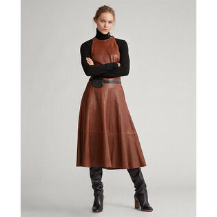 Women's Lambskin Fit-And-Flare Dress
