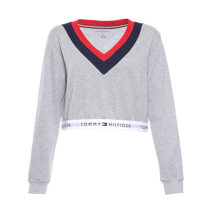 91b395c66ddcfd Women s Retro Cropped Pullover Top
