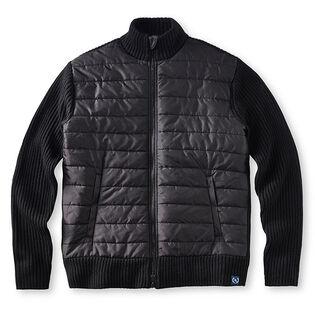 Men's Knit Combo Full-Zip Sweater