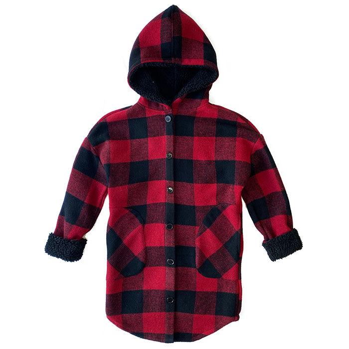Junior Girls' [7-16] Buffalo Plaid Jacket