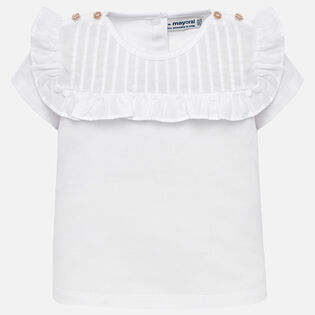 Baby Girls' [6-36M] Pleated Top