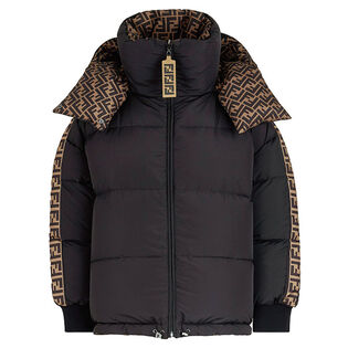 Manteau bouffant réversible FF pour femmes