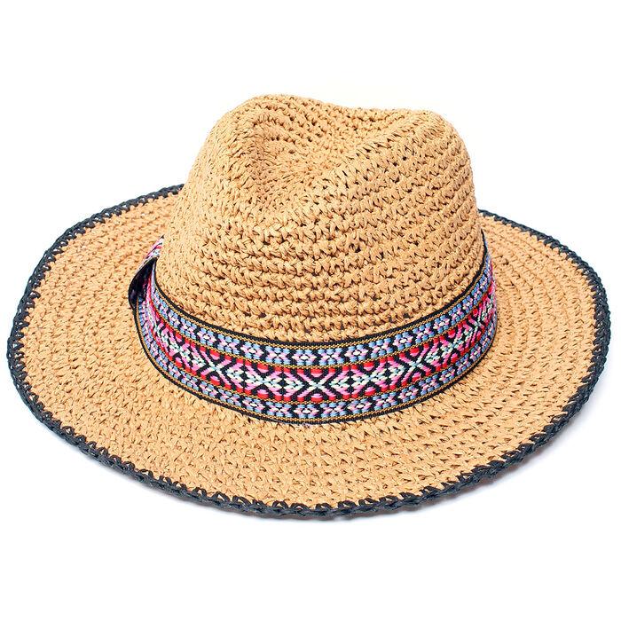 Crochet Straw Hat