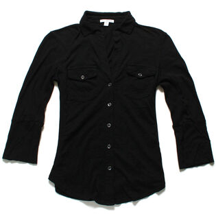 Women's Basic Slub Jersey Shirt
