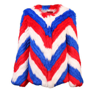 Women's Chevron Fur Jacket
