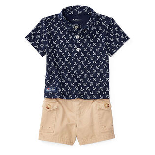 Baby Boys' [3-24M] Anchor Two-Piece Short Set