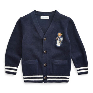 Baby Boys' [6-24M] Collegiate Bear Cardigan