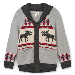 Boys' [2-6] Moose Cabin Shawl Cardigan