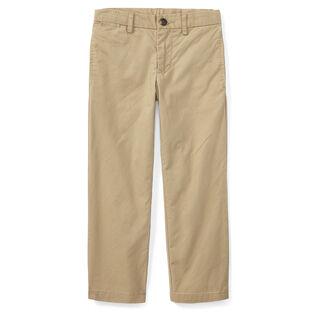 Pantalon chino en coton à coupe ajustée pour garçons [5-7]