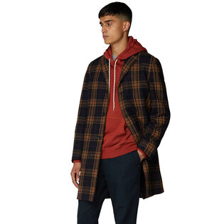 Men's Check Long Tailored Coat