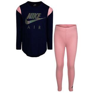 Ensemble chandail + legging Sportswear Air pour filles [2-4T]