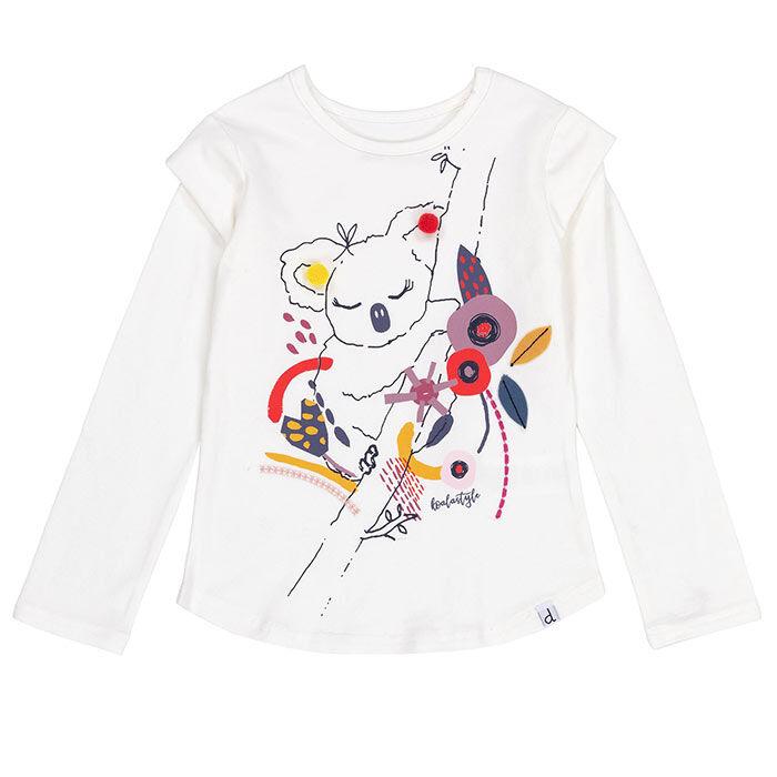 T-shirt Koala Pompom pour filles [3-6]
