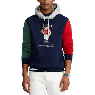 Men's Polo Bear Colourblocked Fleece Hoodie