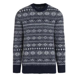 Men's Alpaca Jacquard Sweater