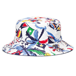 Boys' [5-7] Reversible Cotton Oxford Bucket Hat