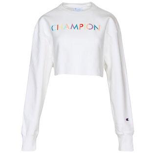 Women's Reverse Weave® Crop Cut-Off Crew Sweatshirt