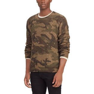 Men's Camo Aran Knit Wool Sweater