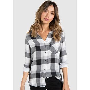 Women's Frayed Button Down Shirt