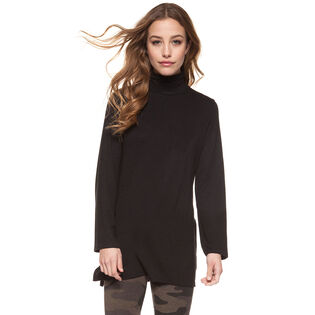 Women's Tunic-Style Tutleneck Top
