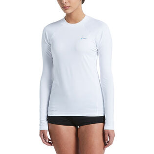 Women's Solid Long Sleeve Hydroguard Swim Top