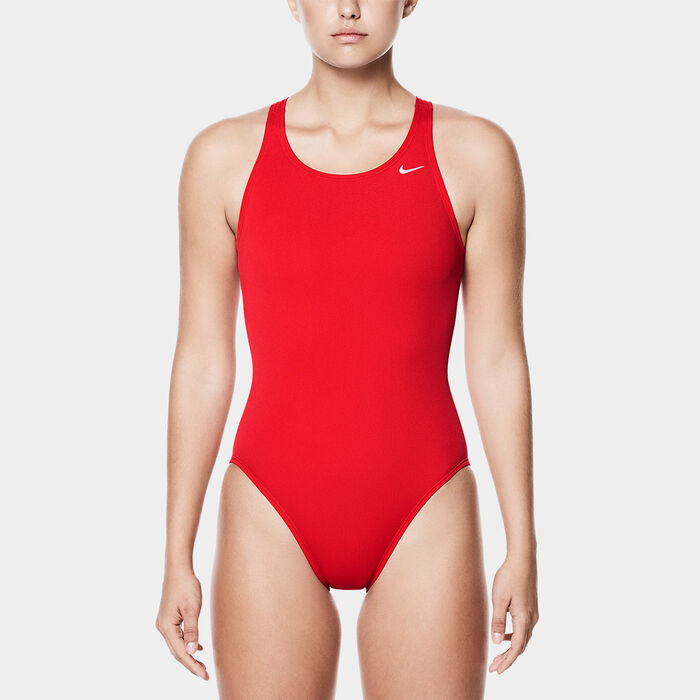 Women's Poly Core Solid Fastback One-Piece Swimsuit
