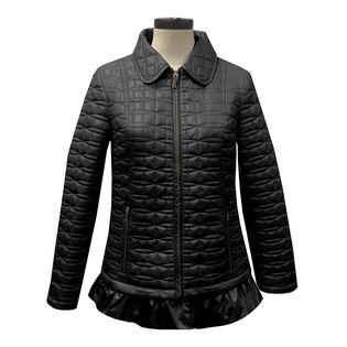Women's Quilted Ruffle Hem Jacket