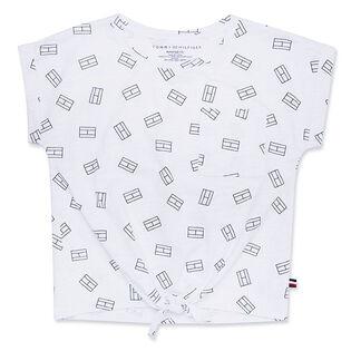 Junior Girls' [7-16] Tie-Up Flag T-Shirt