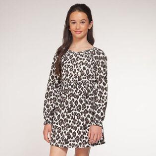 Junior Girls' [7-14] Printed Cheetah Dress