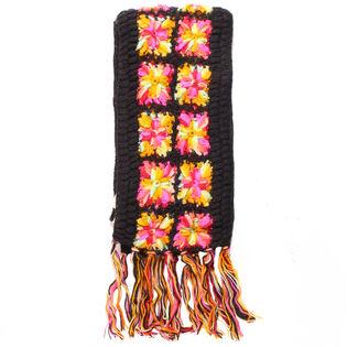 Écharpe crochetée fleurie pour femmes