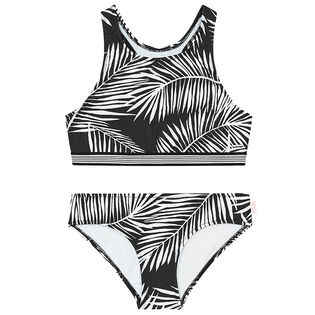 Junior Girls' [6-14] Tahitian Skies Palm Two-Piece Bikini