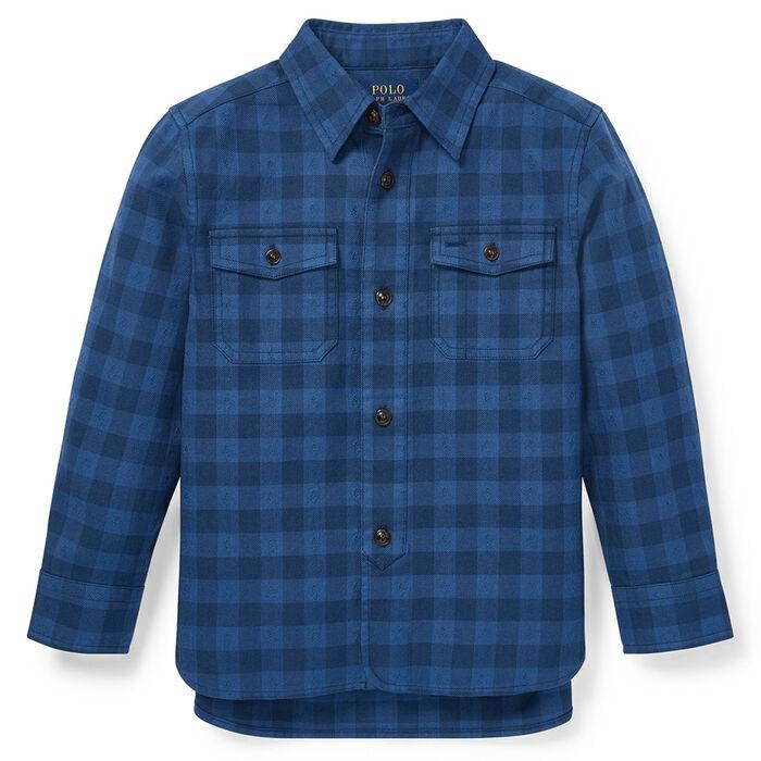 Boys' [5-7] Plaid Cotton Workshirt