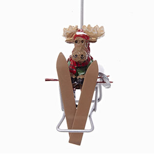 Moose Chair Lift Ornament