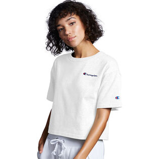 Women's Heritage Cropped Embroidered Logo T-Shirt
