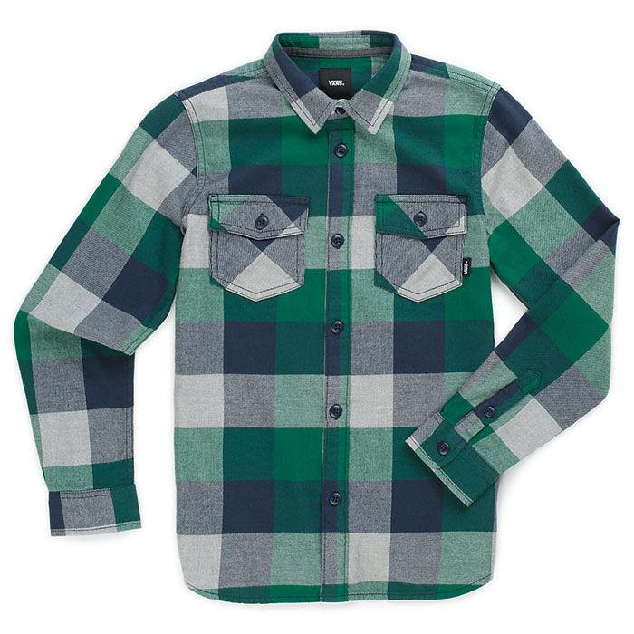 Junior Boys' [8-16] Box Flannel Shirt