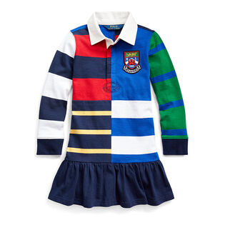 Girls' [5-6X] Striped Cotton Rugby Dress