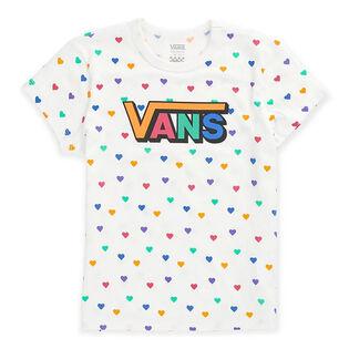 Junior Girls' [8-16] Colourful Hearts T-Shirt