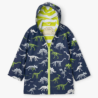 Boys' [2-8] Dino Fossils Colour Changing Splash Jacket