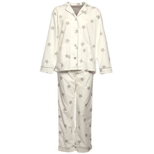 Women's Starry Eyed Flannel Two-Piece Pajama Set