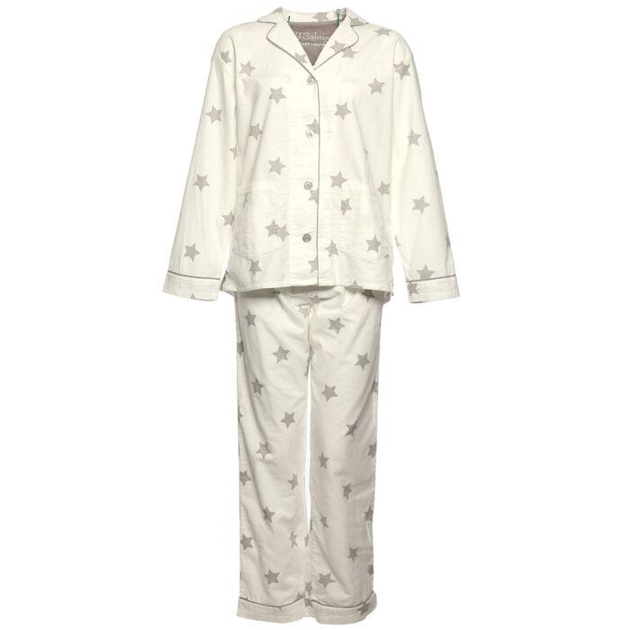 Women's Starry Eyed Flannel Two-Piece Pajama Set