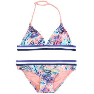 Junior Girls' [8-16] Retro Summer Tri Bikini Set