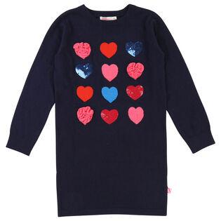 Girls' [3-8] Jacquard Hearts Dress