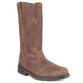 #057 The Chisel Toe Rigger Boot In Rustic Brown