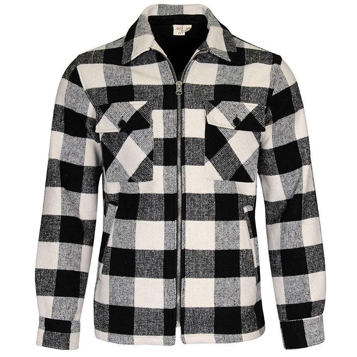 Men's Buffalo Check Zip Jacket