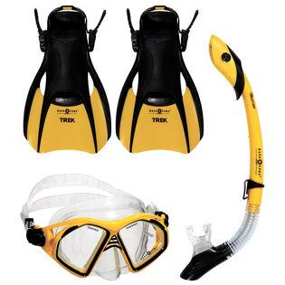 Admiral 4 Piece Snorkel Kit (Foot Size: 4-7)