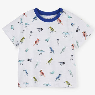 Baby Boys' [3-24M] Watercolour Birds T-Shirt
