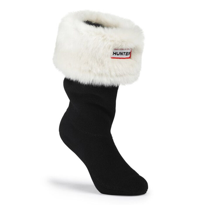 Youth Furry Cuff Welly Sock (Polar White)