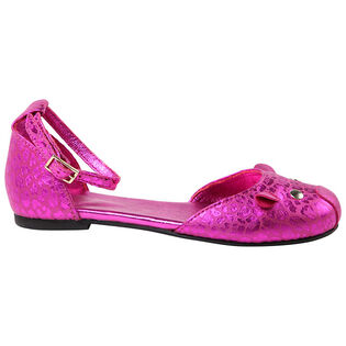 Juniors' [11-5] Leather Mouse Strap Ballerina Flat