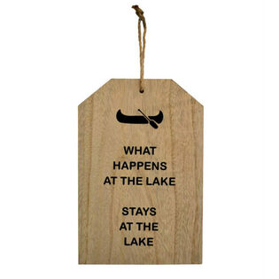 Lake Wooden Sign